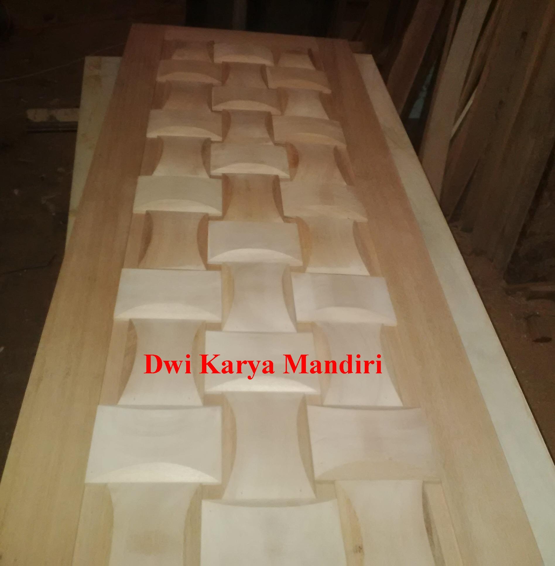 Pintu Panil Anyaman, dengan menggunakan bahan kayu kamper samarinda ...